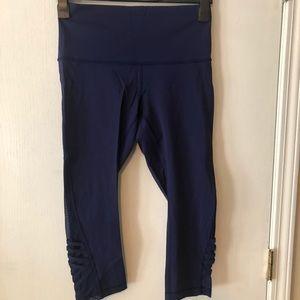 Royal blue Lululemon crossstitch leggings